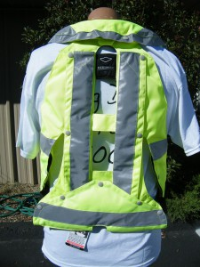 MLV-PY Air Bag Vest - Back View