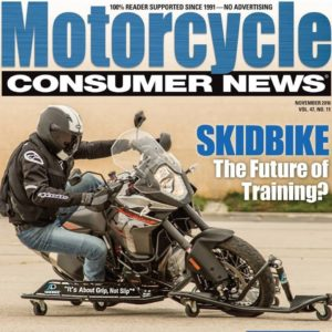Motorcycle Consumer News SKIDBIKE Cover Article